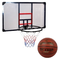 Zestaw kosz do koszykówki tablica obręcz enero 112x72cm + piłka spalding tf-1000 legacy