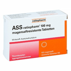 Ass ratiopharm 100 mg magensaftresistent   Tabletten