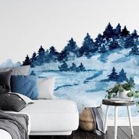 Tapeta na ścianę - blue forest , rodzaj - tapeta flizelinowa