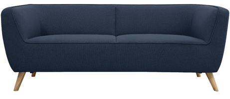 Sofa trzyosobowa nataly granatowa skandynawska