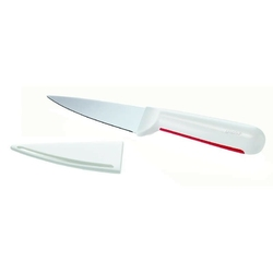 Guzzini - latina - nożyk z osłonką, czerwony - biały || czerwony