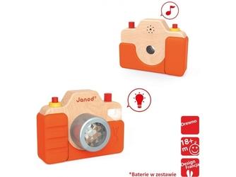 Drewniany aparat fotograficzny z dźwiękiem