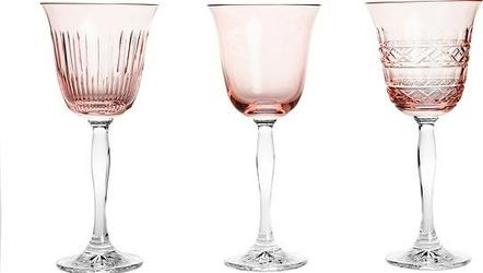 Kieliszki do wina Veranda 3 szt. różowe
