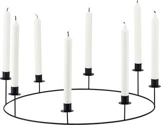 Świecznik ring na 8 świec