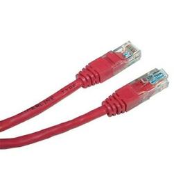 UTP patchcord UTP patchcord, Cat.6, RJ45 M-5m, nieekranowany, czerwony, economy