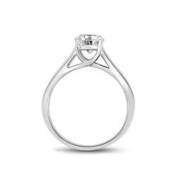 Staviori pierścionek. 1 diament, szlif brylantowy, masa 0,50 ct., barwa g, czystość si1. białe złoto 0,585.