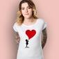 Dziewczynka - wielkie serce t-shirt damski biały l