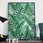Plakat w ramie - wild jungle , wymiary - 50cm x 70cm, ramka - czarna