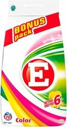 E, Color, proszek do prania tkanin kolorowych, folia, 70 prań, 4,9 kg