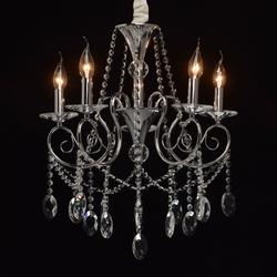 Klasyczny 5-ramienny żyrandol chromowany z kryształmi adele mw-light 373011705