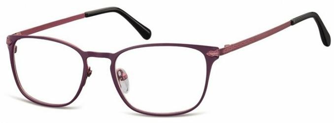 Oprawki okularowe kocie oczy damskie stalowe Sunoptic 991E fioletowe