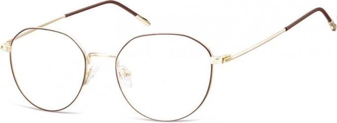 Lenonki oprawki optyczne 928f złote + ciemnobrązowe