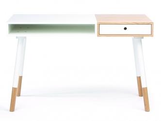 Białe biurko sonnenblick w skandynawskim stylu 120 cm