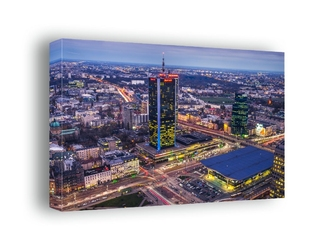 Warszawa dworzec centralny - obraz na płótnie wymiar do wyboru: 80x60 cm