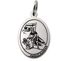 Medalik srebrny z wizerunkiem św. floriana med-florian-01