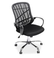 Krzesło biurowe z oparciem z siatki dexter czarny