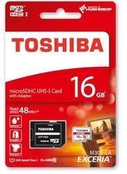 Karta pamięci micro sdhc 16gb toshiba exceria klasa 10 uhs1
