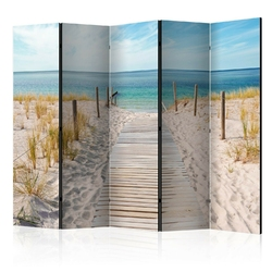 Parawan 5-częściowy - wakacje nad morzem ii room dividers