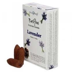 Lawenda - kadzidełka stożkowe typu backflow op. 12 szt