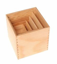 Drewniane Pudełka, kolekcja naturalna 0+, Grimms - naturalne