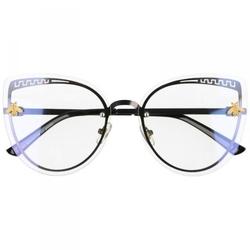 Grafitowe okulary do komputera damskie z filtrem światła niebieskiego zerówki 2534-1