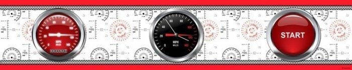 Bord disney cars 14cm auta samochody pasek dekoracyjny zegary