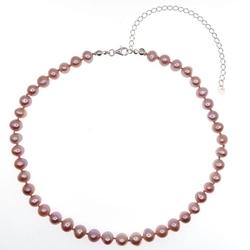 Zelda naszyjnik różowe naturalne perły 3w1 obroża chocker kolia regulowany