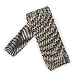Biało granatowy krawat knit VAN THORN