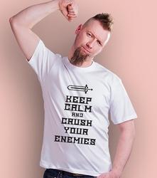 Kcamp; crush your enemies t-shirt męski biały xxl