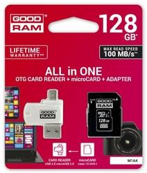 GOODRAM Karta microSDHC 128GB CL10 + adapter + czytnik