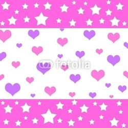 Obraz na płótnie canvas czteroczęściowy tetraptyk serca i gwiazdy