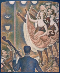 Reprodukcja can-can, georges seurat