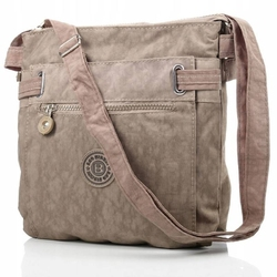 Pojemna damska torebka bag street 2226 beżowa