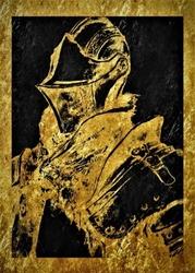 Golden lux - dark souls - plakat