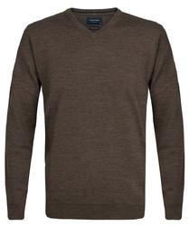 Elegancki ciemnoszary sweter Prufuomo z delikatnej wełny merynosów S