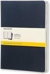 Zeszyty Moleskine Cahier Journals XL 3 szt. w kratkę granatowe