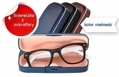 Futerał na okulary Sunoptic HC1SB niebieski + ściereczka