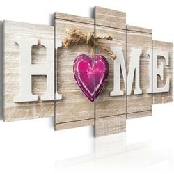 Obraz - home: różowe serce