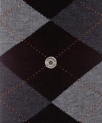 Stylowe bawełniane skarpety burlington manchester we wzór argyle rozmiar 40-46 z czerwonym wzorem