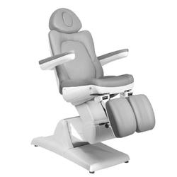 Fotel kosmetyczny elektr. azzurro 870s pedi 3 siln. szary