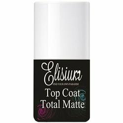 Elisium Top Coat Total Matte, do matowego wykończenia hybrydowego 9g