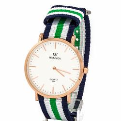 Zegarek pleciony zielony - zielony