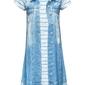 Sukienka z dżinsowym nadrukiem bonprix niebieski