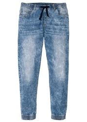 Dżinsy bez zamka w talii slim fit straight bonprix niebieski