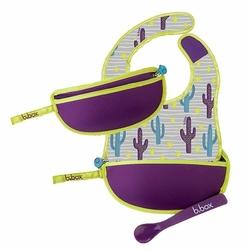 Śliniak dla niemowlaka w saszetce, Cactus Capers, b.box - cactus capers