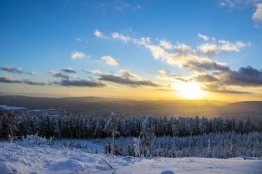 Fototapeta zachodzące zimowe słońce fp 1940