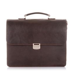 Skórzana torba męska na ramię paolo peruzzi vintage s-04-br
