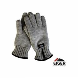 Rękawice ocieplane na zamek Eiger Knitted Glove Zipper Melange Roz L