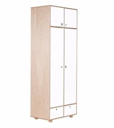 Szafa dwudrzwiowa Migos 80 cm biała