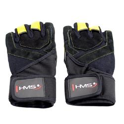 Rękawice treningowe rst01 czarno-żółte - hms